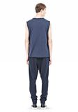 T by ALEXANDER WANG PIGMENT DYED COTTON JERSEY SILK NECK TRIM MUSCLE T TOP Adult 8_n_r