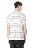 T by ALEXANDER WANG LINEN STRIPE SHORT SLEEVE TEE TOP Adult 8_n_d