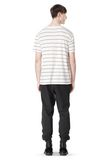 T by ALEXANDER WANG LINEN STRIPE SHORT SLEEVE TEE TOP Adult 8_n_r