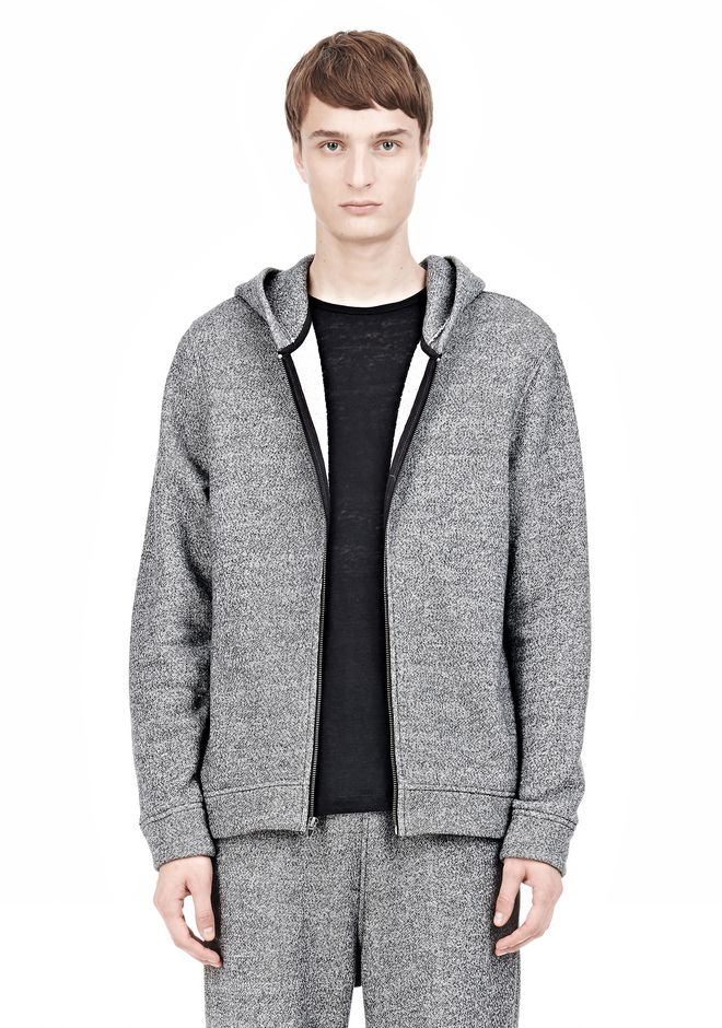 T by ALEXANDER WANG SPECKLED FRENCH TERRY HOODIE HOODIE Adult 12_n_a