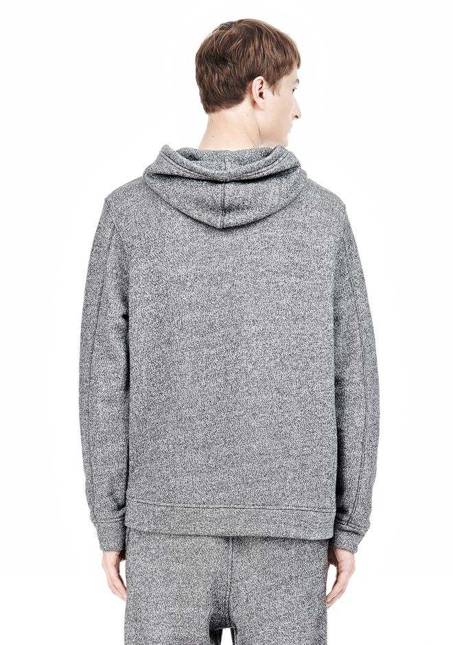 T by ALEXANDER WANG SPECKLED FRENCH TERRY HOODIE HOODIE Adult 12_n_d
