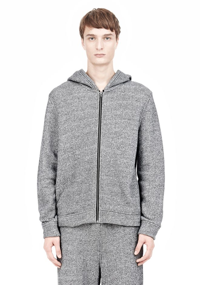T by ALEXANDER WANG SPECKLED FRENCH TERRY HOODIE HOODIE Adult 12_n_e