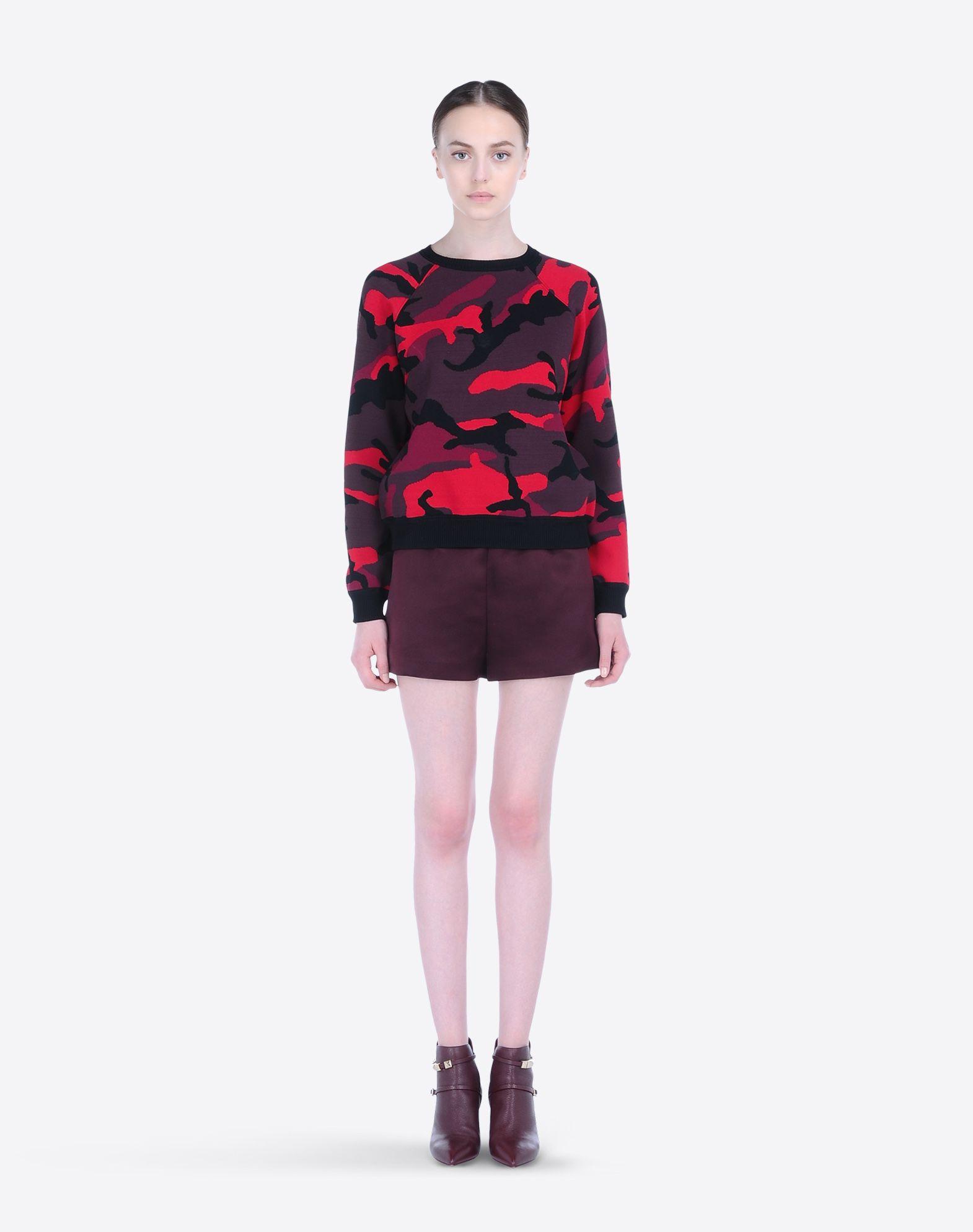 VALENTINO Lightweight sweater Camouflage design Round collar Raglan sleeves  37558643mm