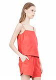 T by ALEXANDER WANG LEATHER SQUARE NECK CAMISOLE TOP Adult 8_n_a