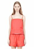 T by ALEXANDER WANG LEATHER SQUARE NECK CAMISOLE TOP Adult 8_n_e