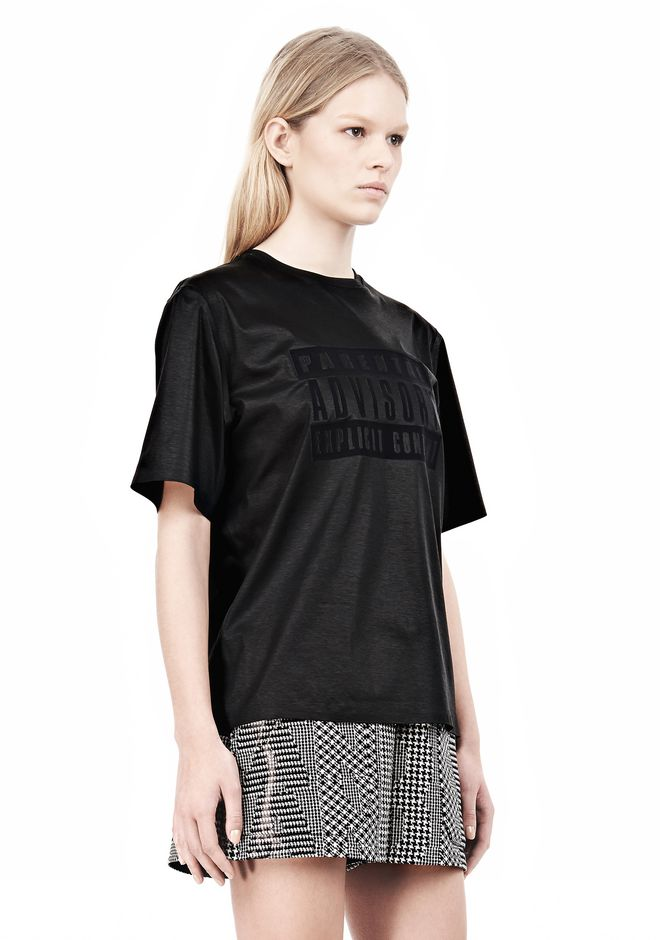 ALEXANDER WANG PARENTAL ADVISORY CREWNECK T-SHIRT Short sleeve t-shirt Adult 12_n_a