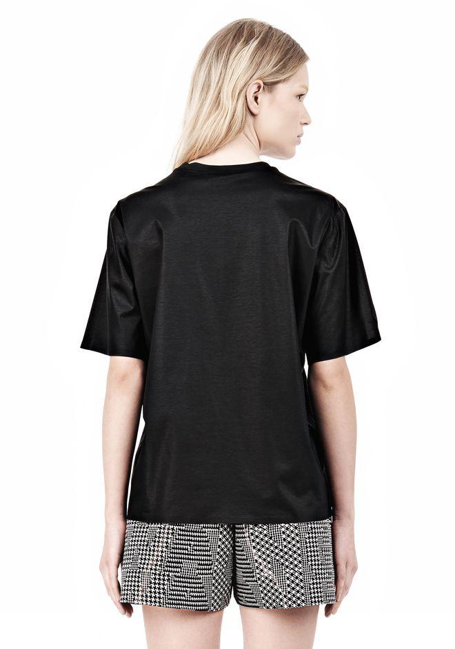 ALEXANDER WANG PARENTAL ADVISORY CREWNECK T-SHIRT Short sleeve t-shirt Adult 12_n_d