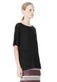 T by ALEXANDER WANG LINEN SILK JERSEY OVERSIZED TEE TOP Adult 8_n_a