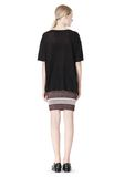 T by ALEXANDER WANG LINEN SILK JERSEY OVERSIZED TEE TOP Adult 8_n_r