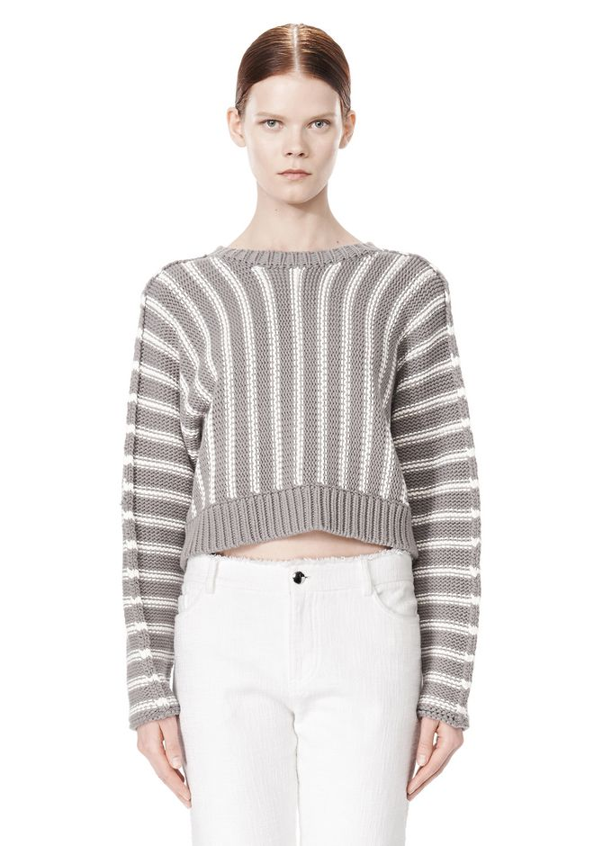 T by ALEXANDER WANG DOLMAN LONG SLEEVE PULLOVER Crewneck Adult 12_n_e