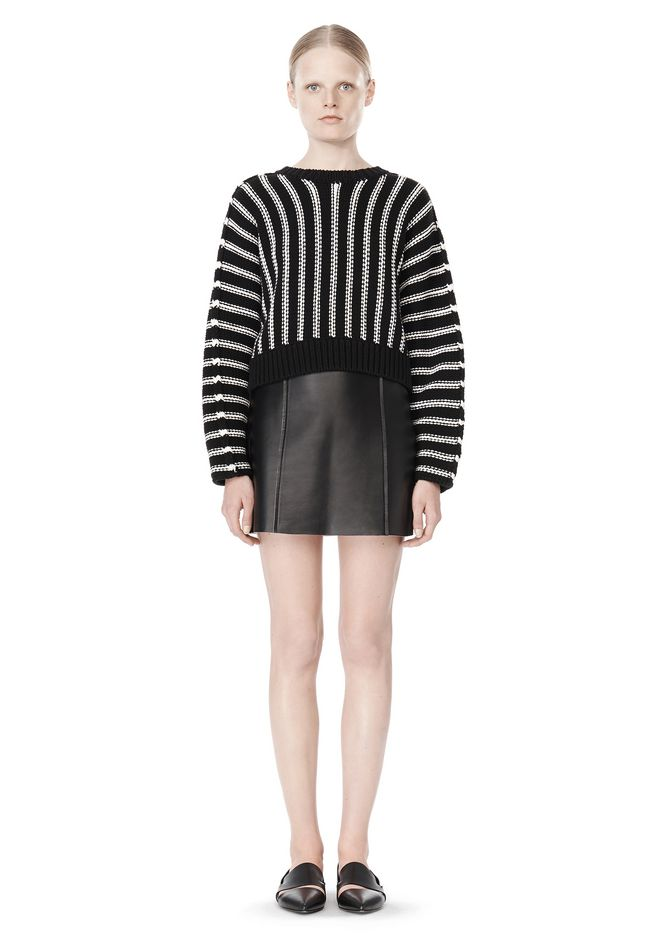 T by ALEXANDER WANG DOLMAN LONG SLEEVE PULLOVER Crewneck Adult 12_n_f