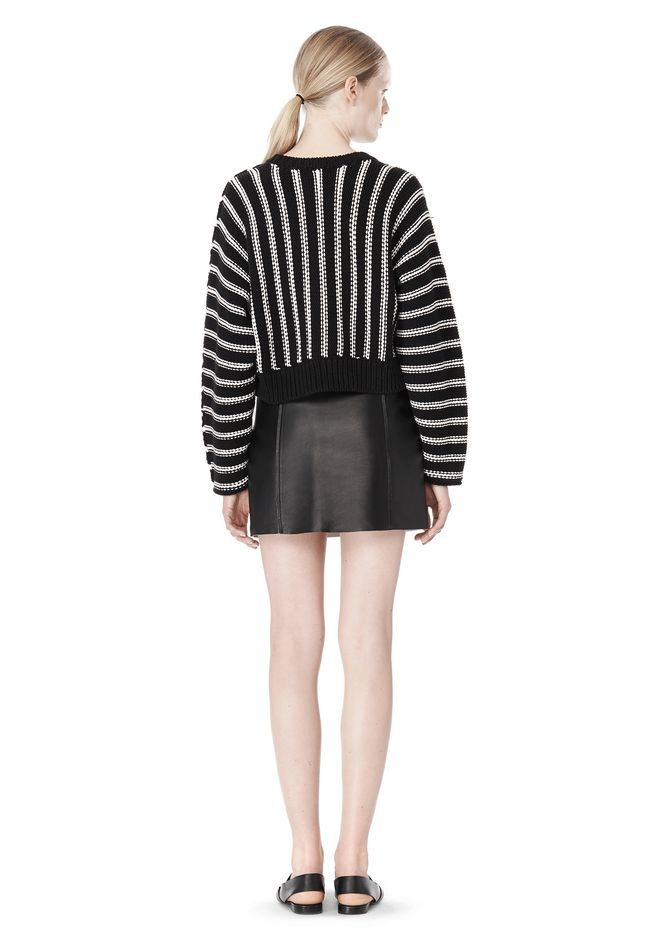 T by ALEXANDER WANG DOLMAN LONG SLEEVE PULLOVER Crewneck Adult 12_n_r