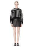 T by ALEXANDER WANG DOLMAN LONG SLEEVE PULLOVER Crewneck Adult 8_n_f