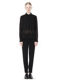 T by ALEXANDER WANG FRAYED SILK CHIFFON LONG SLEEVE SHIRT Shirt/del Adult 8_n_f