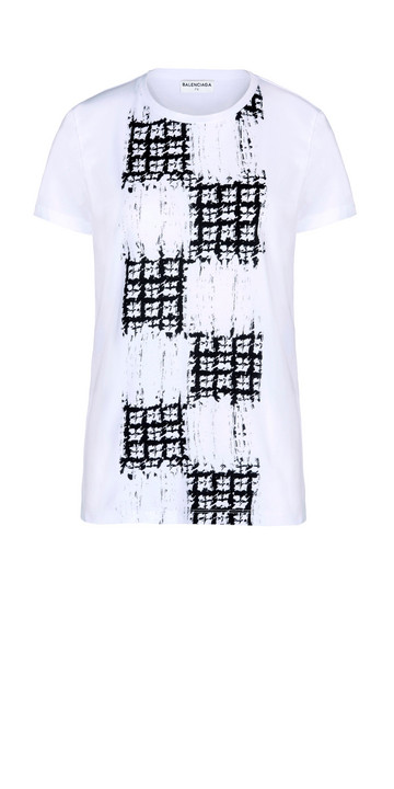 Balenciaga Camiseta Scribble Check