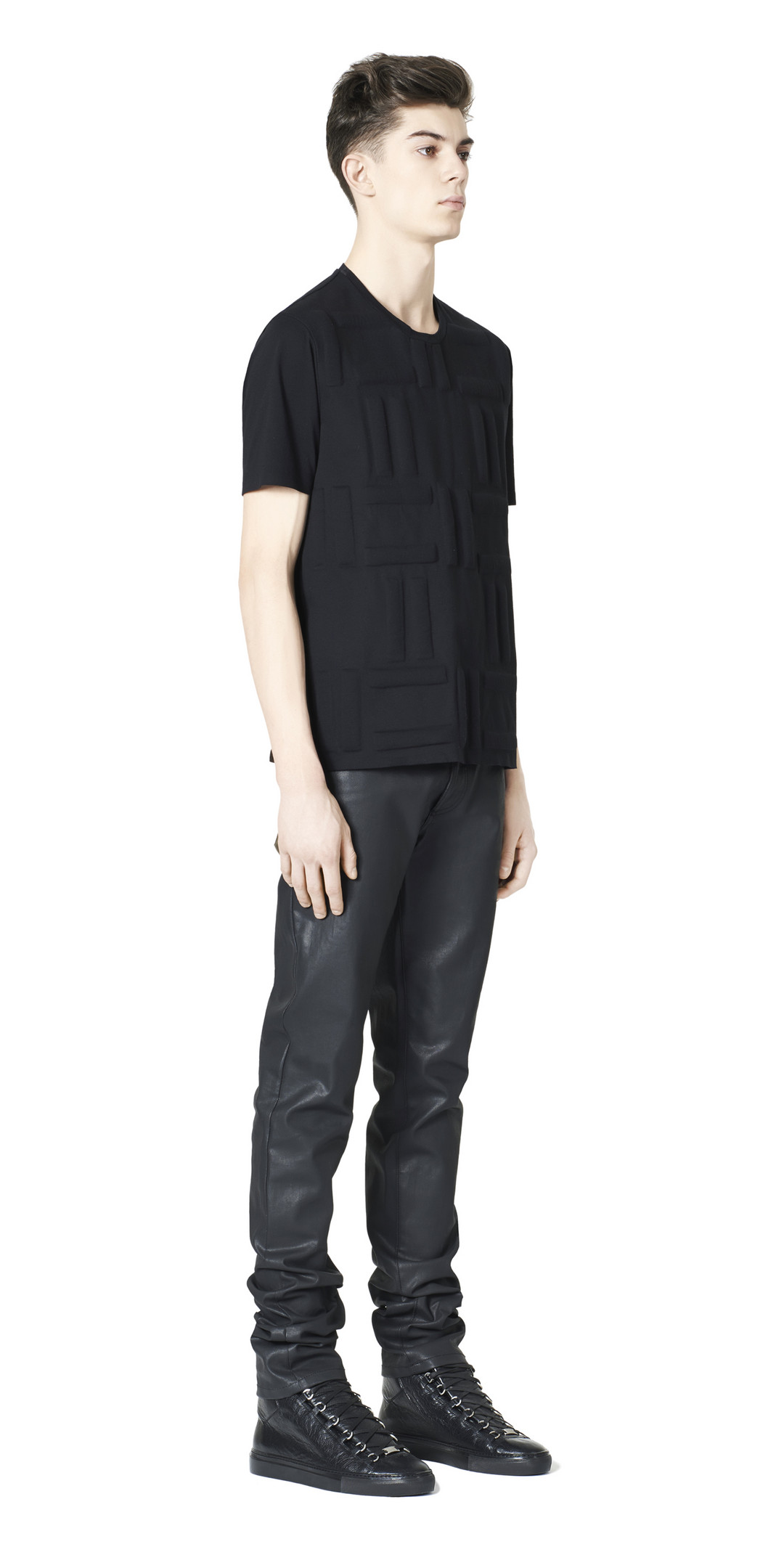 BALENCIAGA Balenciaga Padded Fleece Tee-Shirt Top U f