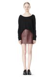 T by ALEXANDER WANG PIMA COTTON LOW NECK LONG SLEEVE TEE TOP Adult 8_n_f