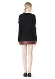 T by ALEXANDER WANG PIMA COTTON LOW NECK LONG SLEEVE TEE TOP Adult 8_n_r