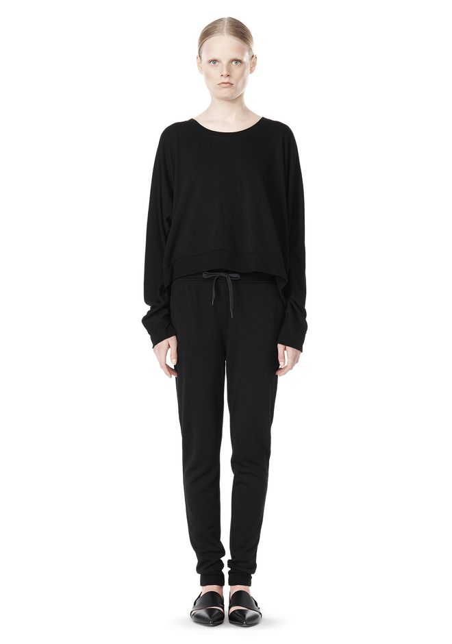T by ALEXANDER WANG LIGHTWEIGHT FRENCH TERRY SWEATSHIRT TOP Adult 12_n_f