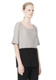 T by ALEXANDER WANG PIMA COTTON & DOUBLE KNIT COMBO TEE TOP Adult 8_n_a