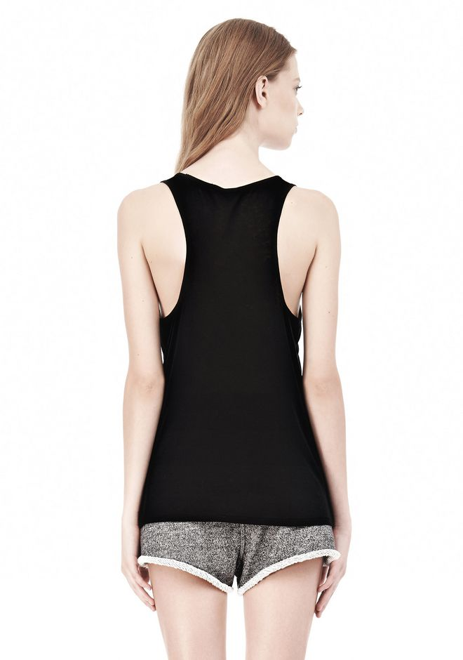 T by ALEXANDER WANG SOFT MELANGE JERSEY TANK TOP Adult 12_n_d