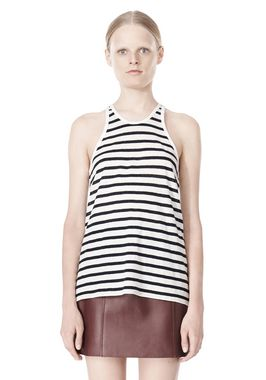 STRIPE LINEN COTTON TANK