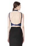 ALEXANDER WANG CROPPED HALTERNECK LEATHER TOP  TOP Adult 8_n_e