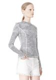 T by ALEXANDER WANG GEORGETTE LONG SLEEVE SCUBA TOP TOP Adult 8_n_a