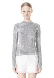 T by ALEXANDER WANG GEORGETTE LONG SLEEVE SCUBA TOP TOP Adult 8_n_e