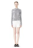 T by ALEXANDER WANG GEORGETTE LONG SLEEVE SCUBA TOP TOP Adult 8_n_f