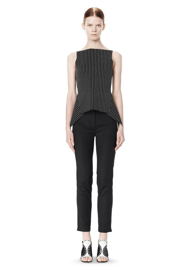ALEXANDER WANG MIXED PINSTRIPE PEPLUM TOP TOP Adult 12_n_f