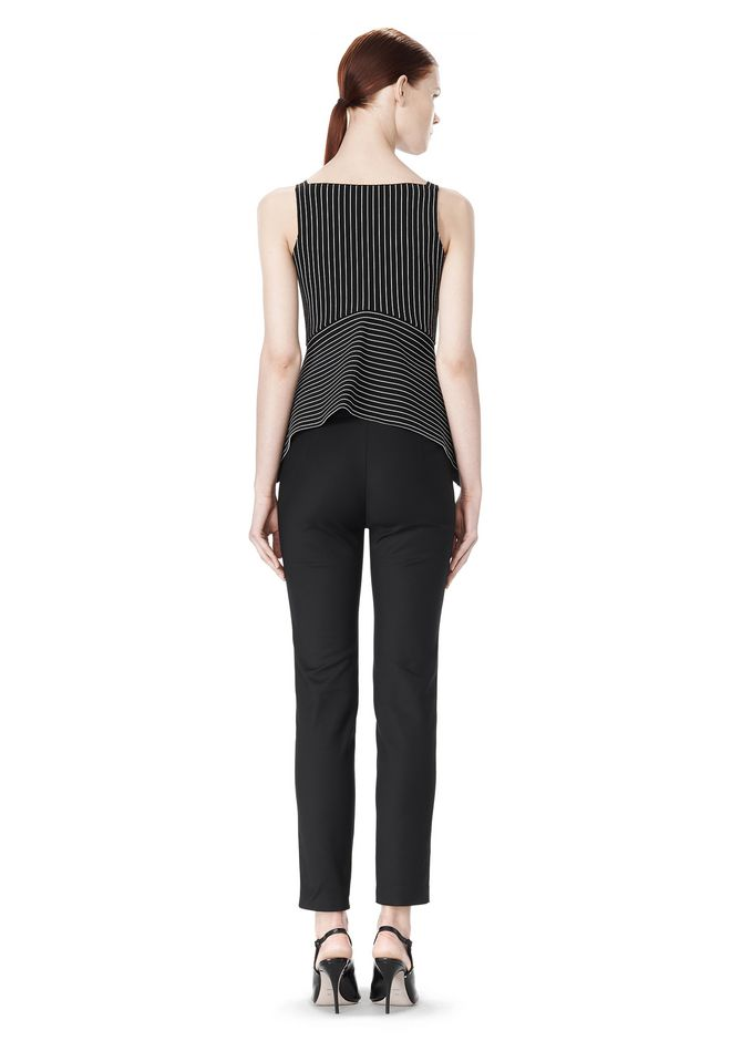 ALEXANDER WANG MIXED PINSTRIPE PEPLUM TOP TOP Adult 12_n_r