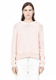 T by ALEXANDER WANG SPECKLED KNITTED HOODIE TOP Adult 8_n_e