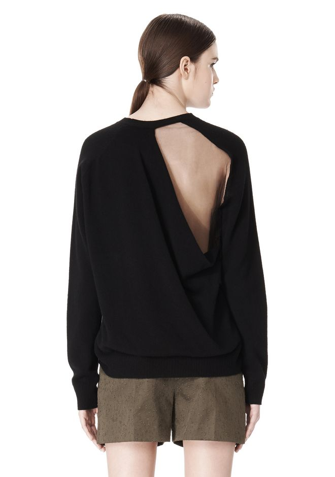 ALEXANDER WANG PEEL AWAY SWEATSHIRT  TOP Adult 12_n_e