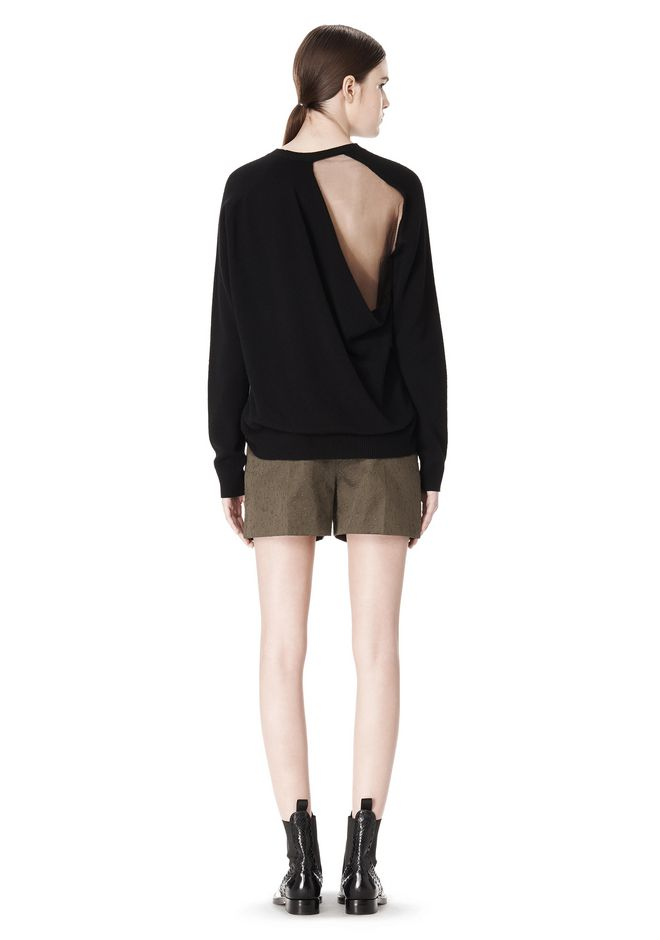 ALEXANDER WANG PEEL AWAY SWEATSHIRT  TOP Adult 12_n_r