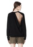 ALEXANDER WANG PEEL AWAY SWEATSHIRT  TOP Adult 8_n_e