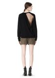 ALEXANDER WANG PEEL AWAY SWEATSHIRT  TOP Adult 8_n_r