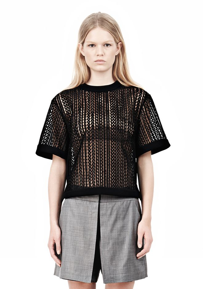 ALEXANDER WANG BOXY LOGO T-SHIRT TOP Adult 12_n_e
