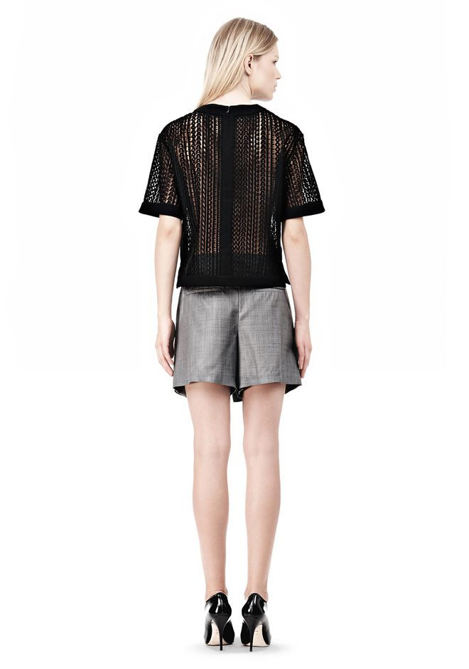 ALEXANDER WANG BOXY LOGO T-SHIRT TOP Adult 12_n_r