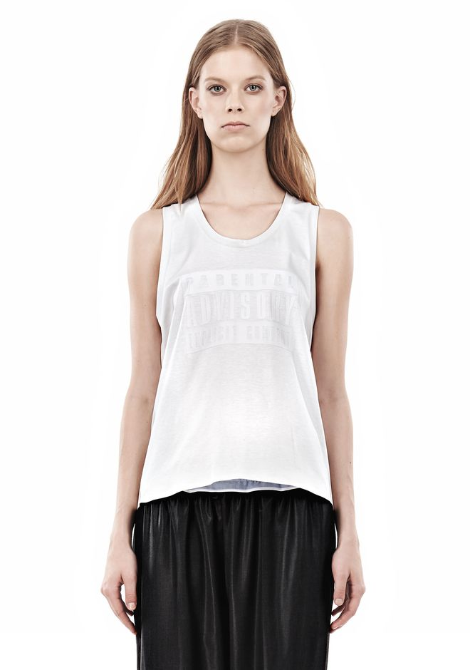 ALEXANDER WANG PARENTAL ADVISORY MUSCLE TANK TOP Adult 12_n_e