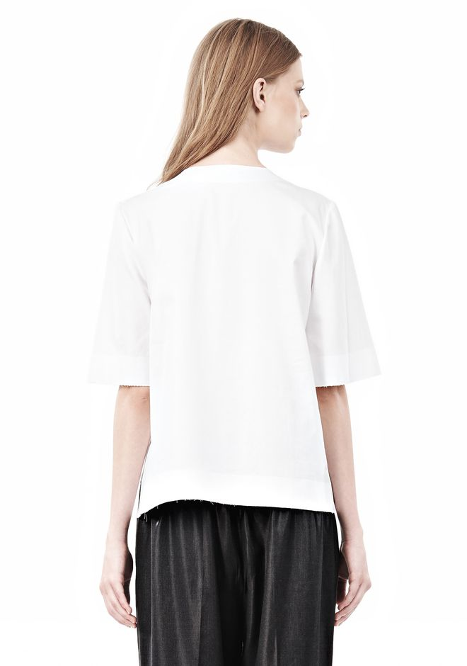 ALEXANDER WANG ASYMMETRIC T-SHIRT WITH HIDDEN BRA TOP Adult 12_n_d