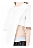 ALEXANDER WANG ASYMMETRIC T-SHIRT WITH HIDDEN BRA TOP Adult 8_n_a