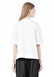 ALEXANDER WANG ASYMMETRIC T-SHIRT WITH HIDDEN BRA TOP Adult 8_n_d