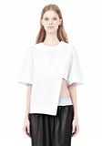 ALEXANDER WANG ASYMMETRIC T-SHIRT WITH HIDDEN BRA TOP Adult 8_n_e