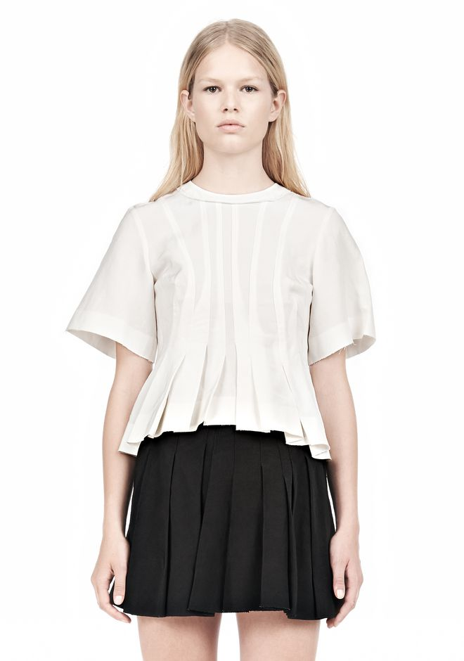 ALEXANDER WANG VACUUM PRESSED T-SHIRT WITH IRREGULAR SEAMS TOP Adult 12_n_e