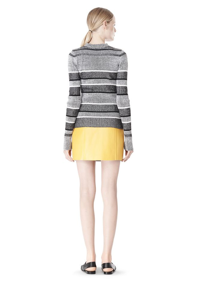 T by ALEXANDER WANG RIB KNIT LONG SLEEVE MOCK NECK TOP TOP Adult 12_n_r