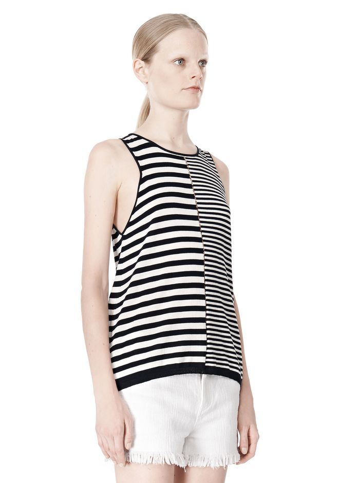T by ALEXANDER WANG TENCEL COTTON LIGHTWEIGHT KNIT TANK TOP Adult 12_n_a