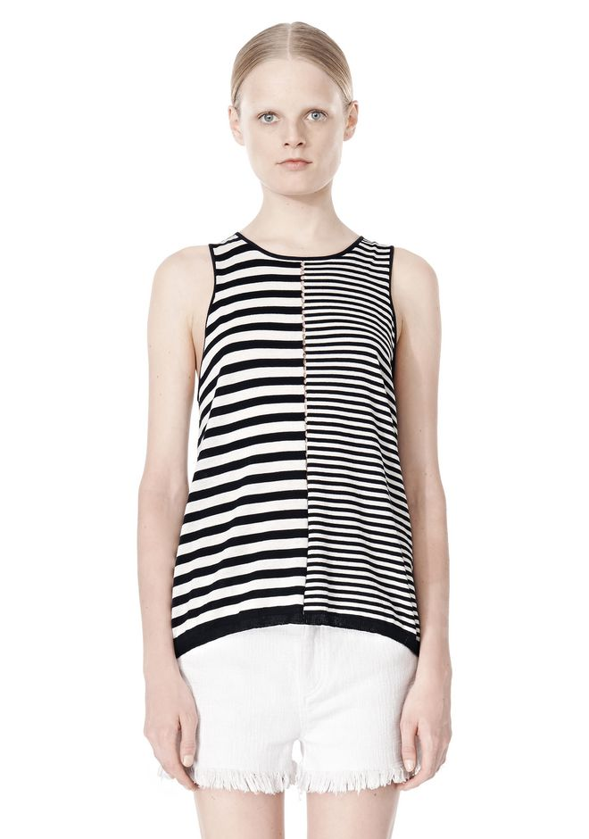 T by ALEXANDER WANG TENCEL COTTON LIGHTWEIGHT KNIT TANK TOP Adult 12_n_e