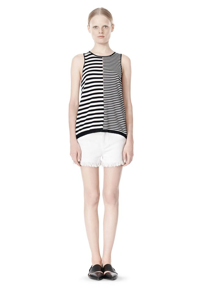 T by ALEXANDER WANG TENCEL COTTON LIGHTWEIGHT KNIT TANK TOP Adult 12_n_f