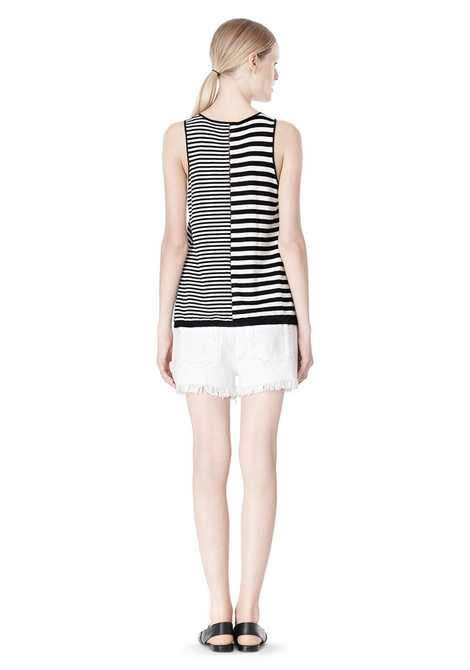 T by ALEXANDER WANG TENCEL COTTON LIGHTWEIGHT KNIT TANK TOP Adult 12_n_r